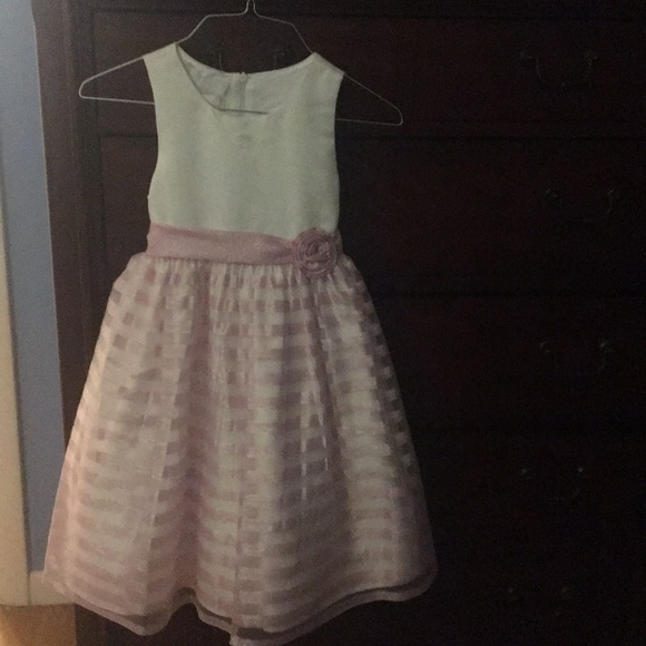 American Princess Other - Lilac and white girls dress